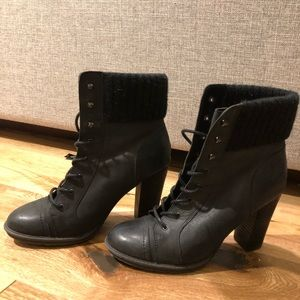 Aldo Lace Up Black Bootie
